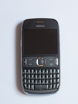 Nokia Asha 302 - Image: Nokia Asha 302 front