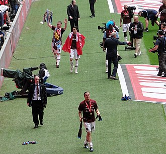 Mark Noble - Noble (front) after the 2012 Football League Championship play-off Final