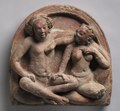 Northern India, Uttar Pradesh, Ahichchatra, Gupta period - Amorous Couple- Mithuna - 1971.133 - Cleveland Museum of Art.tif