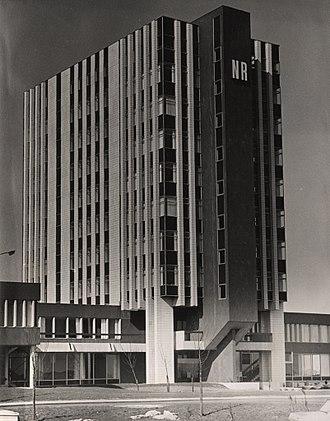 Partnership House - Image: Northern Rock Building Regent Centre Gosforth 1969