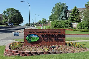 Northglenn, Colorado - The sign for Northglenn's City Hall