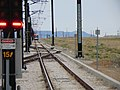 Northwest along northbound tracks from Daybreak Parkway station, Apr 16.jpg