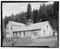Northwest corner of powerhouse. Switch house addition is on left. - Rock Creek Hydroelectric Project, Rock Creek, Baker County, OR HAER OR-121-10.tif