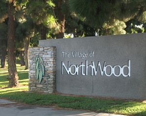 Northwood, Irvine, California - Sign announcing the area of Northwood on the corner of Culver and Bryan