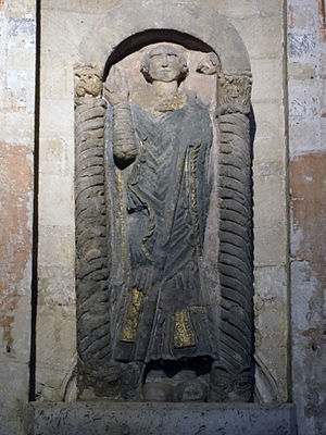 Felix of Burgundy - Statue of Saint Felix at Norwich Cathedral.