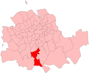 Norwood (UK Parliament constituency) - Image: Norwood 1885