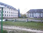 Not a rocket but a playground (arms conversion), no more military tanks and tower but place for new houses to live in Giessen 2017-04-10.jpg