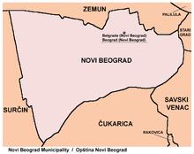 opstina novi beograd mapa New Belgrade   Wikipedia opstina novi beograd mapa