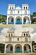 Nuestra Sra. del Santissimo Rosario Parish Church, Lila, Bohol (Before and After 2013 Bohol Earthquake).jpg