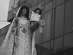 nuestra señora de las mercedes del siglo XVII,según historiadores fue traída de España por religiosos mercedarios .
