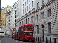 Number 9 Routemaster Bus in Great Scotland Yard - geograph.org.uk - 3101490.jpg