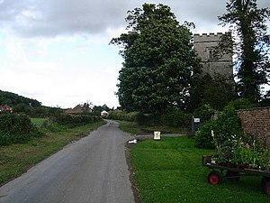 Nunburnholme - Looking past the church towards the centre of the village