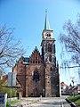 Nymburk, kostel svatého Jiljí, z Kostelní ulice.jpg