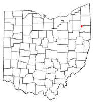 Location of Craig Beach, Ohio