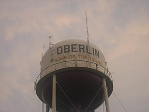 Oberlin Water Tower, Oberlin, LA IMG 1080.JPG