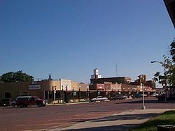 Downtown Oberlin, Kansas in 2001