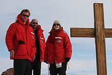 USAP Canada Goose parkas worn at Observation Hill, Antarctica