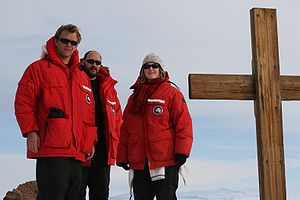 Canada Goose (clothing) - A number of USAP Canada Goose parkas worn at Observation Hill, Antarctica.