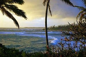 Wailua, Kauai County, Hawaii - Kauai coast as seen from Wailua