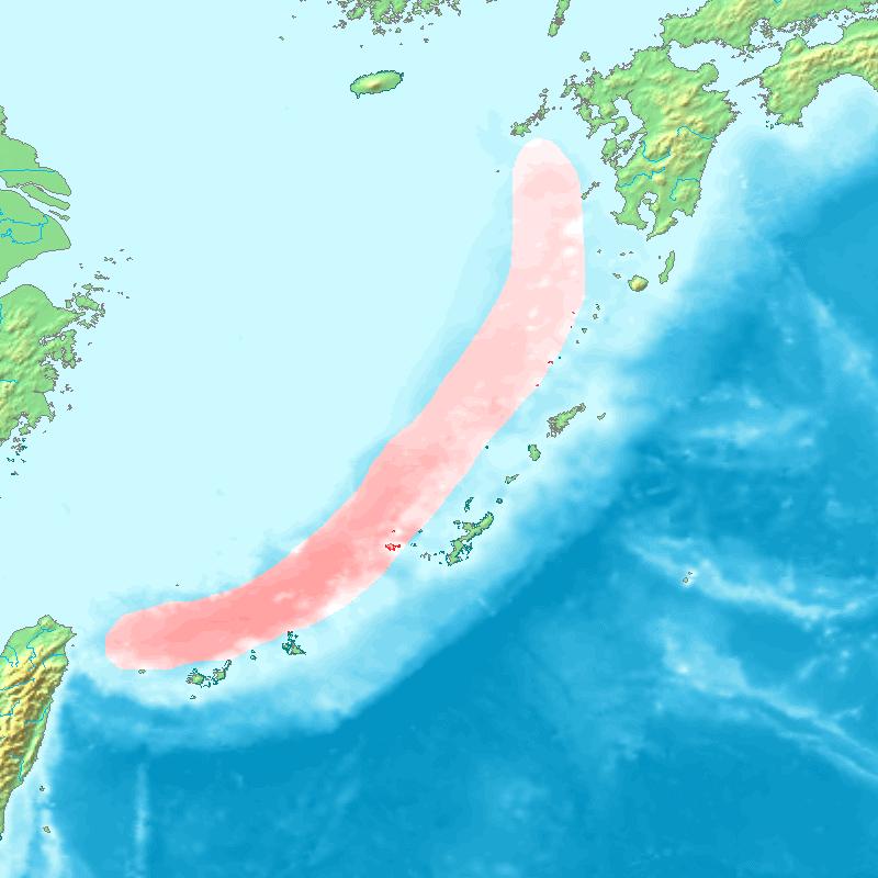 Okinawa trough topographic