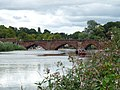 Old Dee Bridge, Chester - view of west side from south bank of River Dee 04.jpg