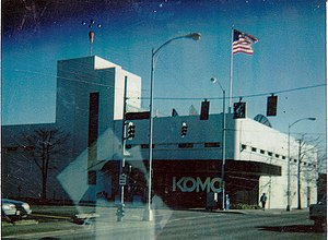 KOMO (AM) - KOMO-TV's former broadcast facility at the current site of Fisher Plaza, taken on March 2, 1995, near the intersection of 4th Avenue North and Denny Way. This building was completed in 1948, expanded in 1975, and demolished in 2000 to make way for building 2 of the Fisher Plaza complex.