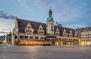 Leipzig Place in Saxony, Germany