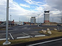 Old control tower and terminal with new tower.JPG