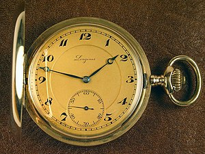 An old pocket gold watch