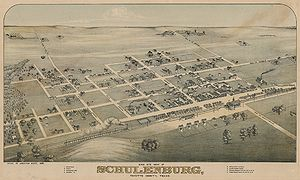 Schulenburg, Texas - City in 1881