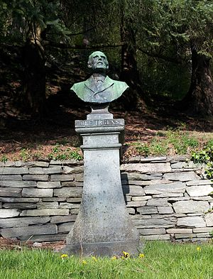 Ole Irgens (politician) - Irgens' bust at Fjellveien, Bergen, Norway
