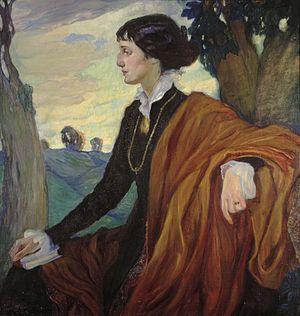 Anna Akhmatova - Portrait of Anna Akhmatova by Olga Della-Vos-Kardovskaya, 1914