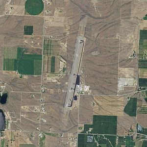 Omak Airport - 2006 digital orthophoto of the airport released by the United States Geological Survey (USGS)
