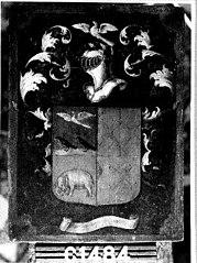 Wapenbord van Arent Kievit genaamd Biscop (overl.1644)