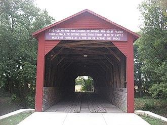 Gladstone Township, Henderson County, Illinois - The Oquawka Wagon Bridge, a covered bridge in the township's far north