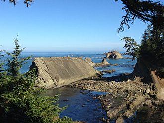 Oregon Institute of Marine Biology - Photograph of Oregon Coast near OIMB Marine Lab