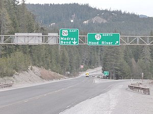 Oregon Route 35 - Southern terminus at US 26