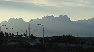 Las Cruces, New Mexico - The eastern Organ Mountains are a prominent sight throughout the city.