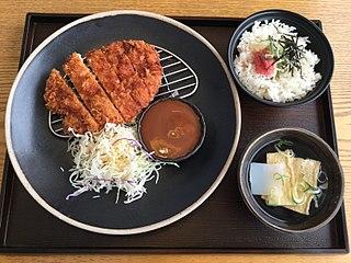 <i>Tonkatsu</i> Japanese dish of deep-fried pork