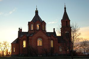 Finnish Orthodox Church - The St. Nicholas Church in Vaasa (1862).
