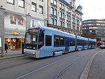 Oslo tram line 17 on Kirkeristen 02.jpg
