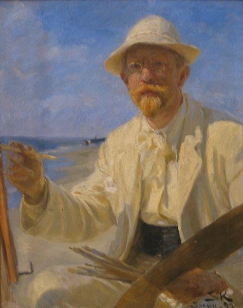 Archivo:P S Krøyer 1897 - Selvportræt.jpg
