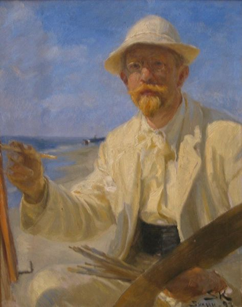 Ficheiro:P S Krøyer 1897 - Selvportræt.jpg