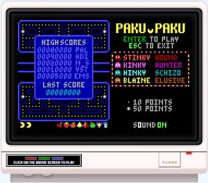 Retrogaming - Image: Paku paku 4 dos