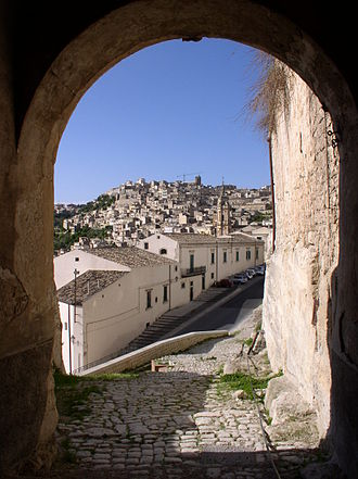 County of Modica - The County Palace entrance, at the higher quarters of the old town.