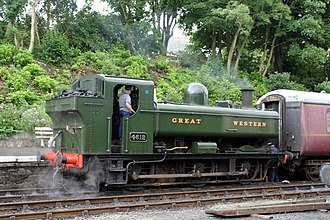 Bodmin and Wenford Railway - Image: Pannier 4612 at Bodmin 4