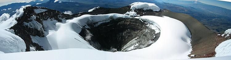 Cratere del Cotopaxi, Ecuador