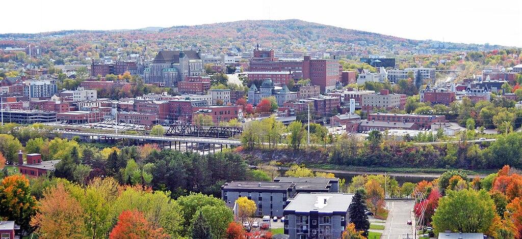 Panoramique du centre-ville de Sherbrooke