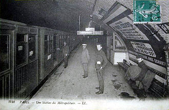Pasteur (Paris Métro) - Postcard of station in about 1906