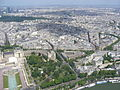 Paris View from the Eiffel Tower third floor Seine upstream 00c Jardins du Trocadéro.jpg